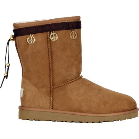 Boot Hug Peace Sign Boot Accessory (Girls') - Chocolate