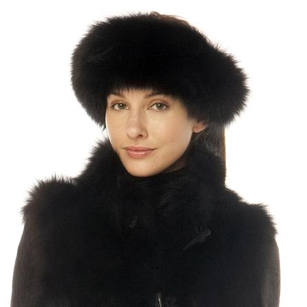 M.Miller Black Fox Headband (Women's) - Black Fox Fur