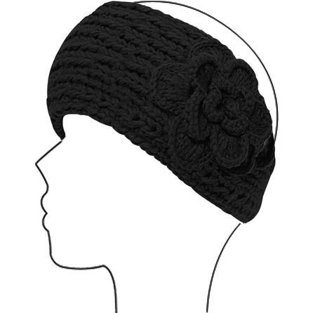 Elan Blanc Flower Button Headband (Women's) -
