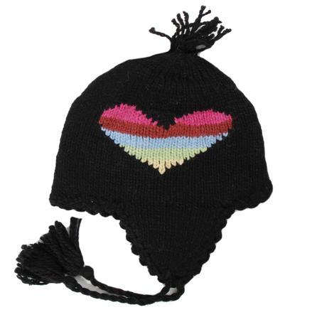 Elan Blanc Rainbow Heart Earflap Hat (Girls') -