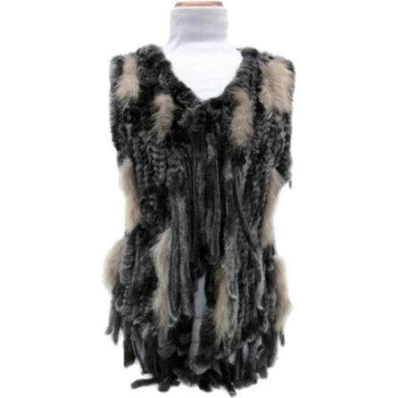 Mitchie's Matchings Knit Fur Vest (Women's) -
