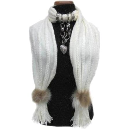 Mitchie's Matchings Scarf with Jewels (Women's) -