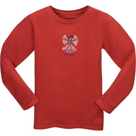 Life is Good Crusher Snow Angel Jackie Long-Sleeve T-Shirt (Girls') -