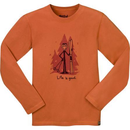Life Is Good Organic Ski Long-Sleeve T-Shirt (Boys') -