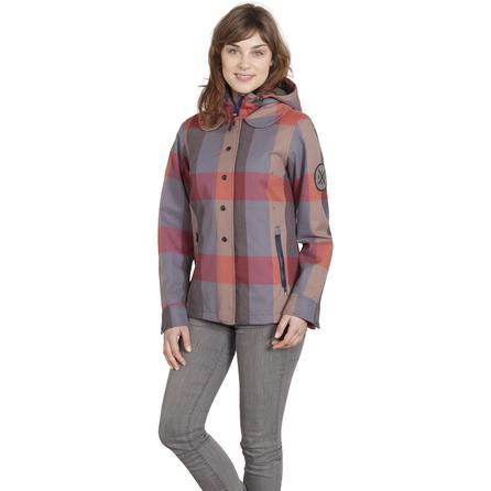 Holden Poppy Insulated Snowboard Jacket (Women's) - Blue Plaid