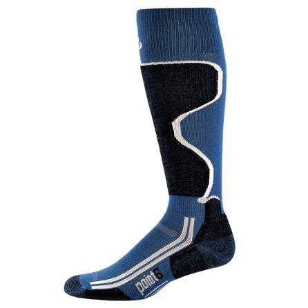 Point6 Ski Light Ski Sock (Adults') - Teal/Black