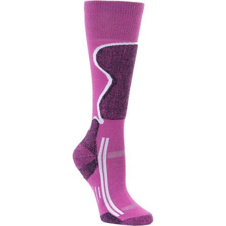 Point 6 Kids Ski Sock (Kids') - Fuchsia