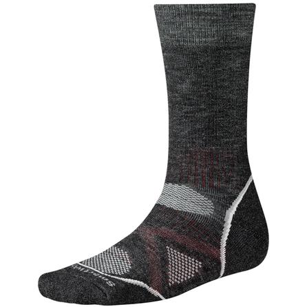 SmartWool PhD Outdoor Medium Crew Sock (Adults') - Charcoal