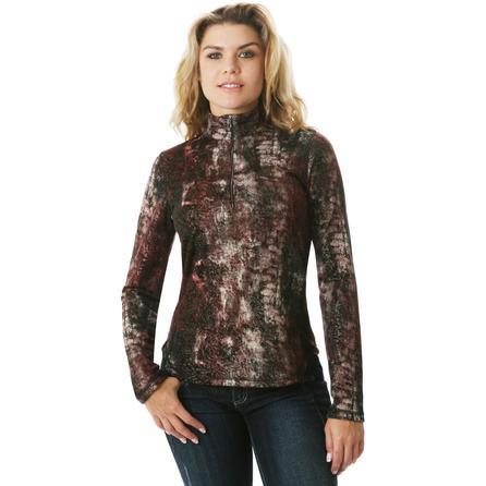Sno Skins Lurex Print Zip Top (Women's) -