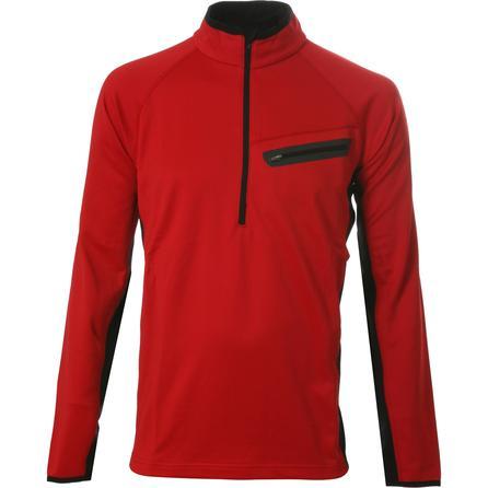 Sno Tek Parkstar Half Zip Fleece Mid-Layer (Men's) - Red/Black