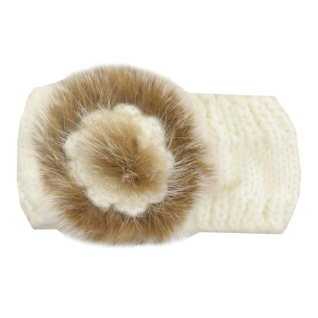 Mitchie's Fur Flower Headband (Women's) - Ivory