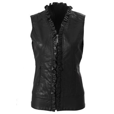 Montanaco Faux Leather Ruffle Vest (Women's) -