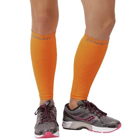 Zensah Compression Leg Sleeve - Neon Orange