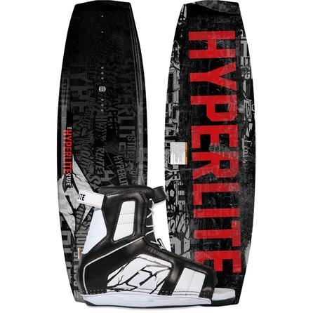 Hyperlite 125 State Wakeboard Package with 4-8 Remix Boots (Kids') -