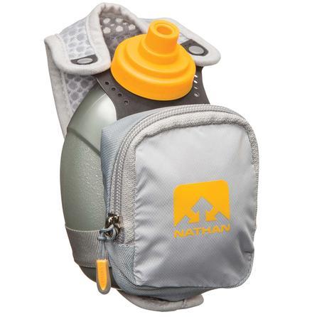 Nathan QuickShot Plus Water Bottle - Nathan Gray/Yellow