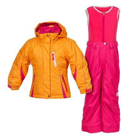 Jupa Aleksandra 2-Piece Ski Suit (Toddler Girls') - Tangerine Clock/Primrose Glass