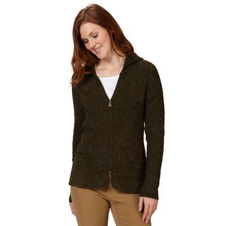 Royal Robbins Napa Boucle Zip Up Hoodie (Women's) - Dark Galaxy Green