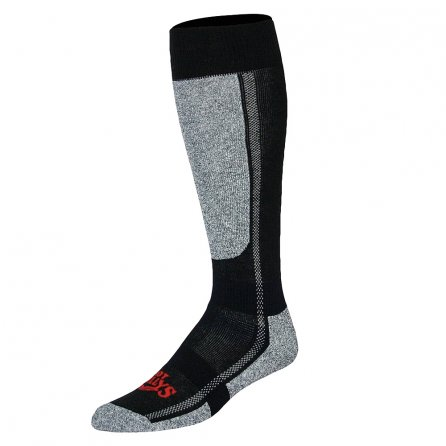 Hot Chillys Mid Volume Ski Sock (Men's) - Black/Heather