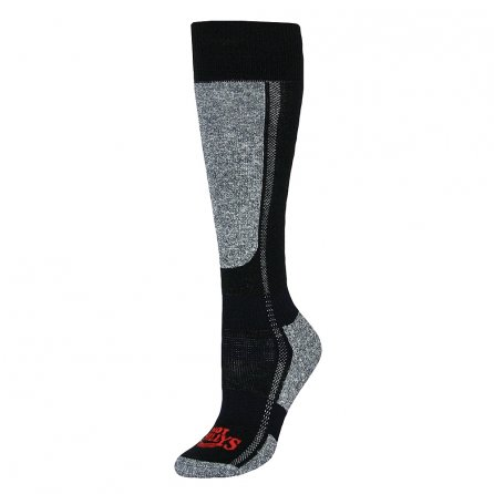 Hot Chillys Mid Volume Ski Sock (Women's) - Black/Heather