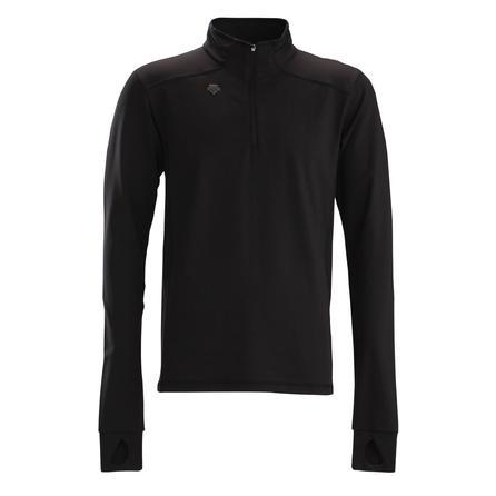 Descente Charles Zip Mid-Layer Top (Men's) - Black/Black