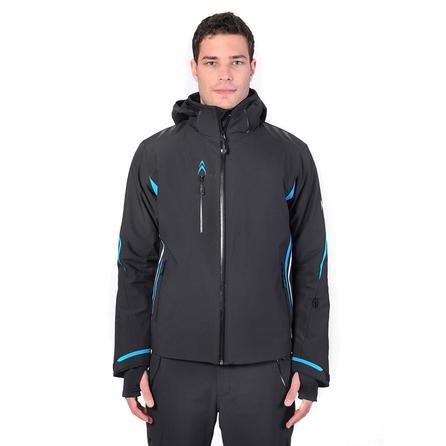 Volkl Black Jack Insulated Ski Jacket (Men's) - Black/Bright Azure