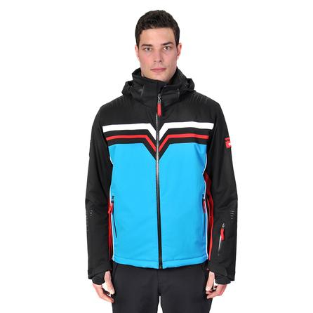 Volkl Yellow Stone Insulated Ski Jacket (Men's) - Black/Bright Azure/White