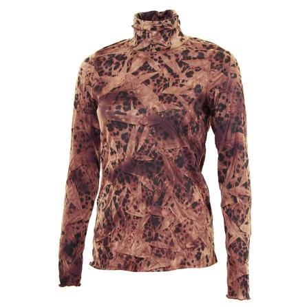Sno Skins Crinkle Print Turtleneck (Women's) - Cinnamon