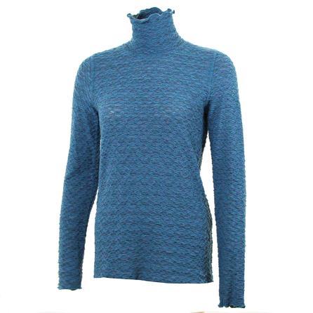 Sno Skins Tweedy Sweater Knit Turtleneck (Women's) - Teal