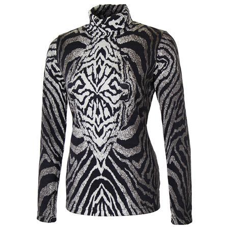 Sno Skins Zebra Jacquard Turtleneck (Women's) -