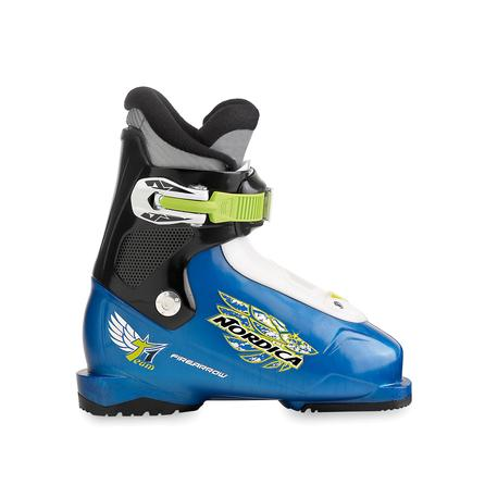 Nordica Junior Firearrow Team 1 Ski Boot (Toddlers') - Black/Blue