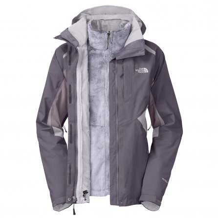 The North Face Boundary Triclimate Ski Jacket (Women's) - Greystone Blue/Purple Sage