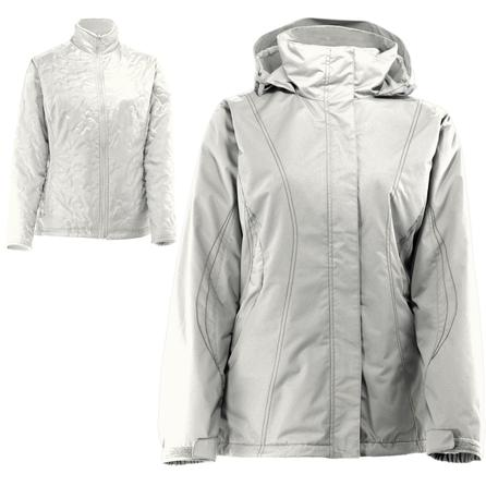 White Sierra All Seasons 4-in-1 Ski Jacket (Women's) - Cloud/Humus