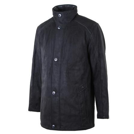 Bugatchi Ultra Suede Zip Coat (Men's) - Black
