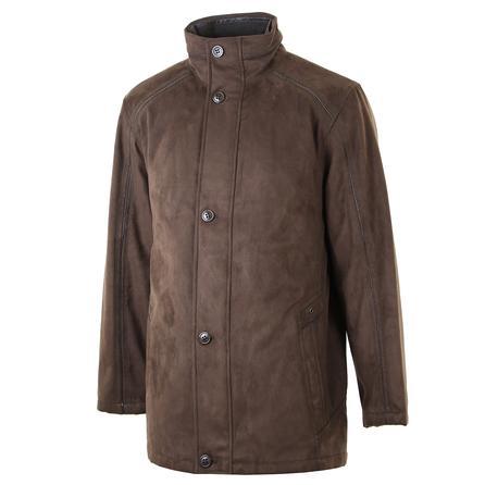 Bugatchi Ultra Suede Zip Jacket (Men's) - Truffle