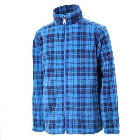 White Sierra Print Sierra Mountain Fleece Jacket (Kids') - Ocean