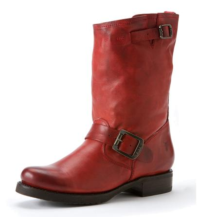 Frye Veronica Short Boot (Women's) - Burnt Red