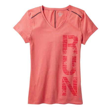 Moving Comfort Performance Running Tee (Women's) - Red Hot Heather