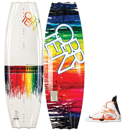 O'Brien 124 Siren Wakeboard Package with 6.5-9.5 Nova Boots (Kids') -