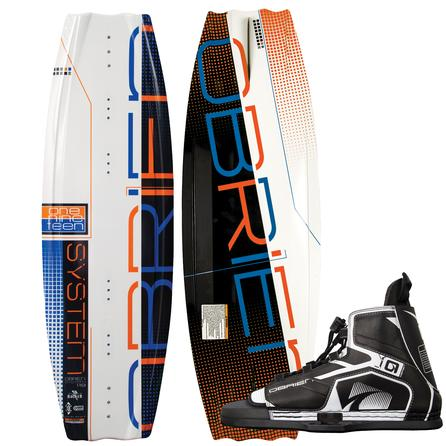 O'Brien 119 System Jr Wakeboard Package with 5-8 Device Boots (Kids') -