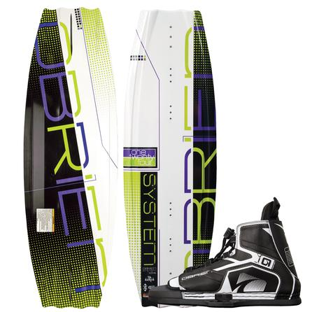 O'Brien 124 System Jr Wakeboard Package with 5-8 Device Boots (Kids') -