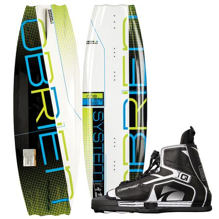 O'Brien 135 System Wakeboard Package with 7-13 Device Boots (Men's) -