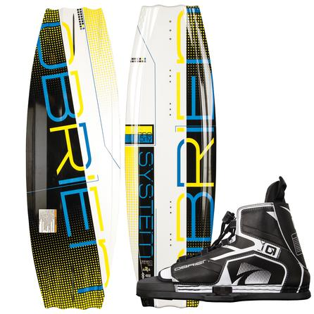 O'Brien 140 System Wakeboard Package with 7-13 Device Boots (Men's) -