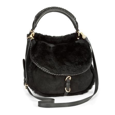 UGG Quinn Flap Hobo Bag (Women's) - Black