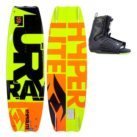 Hyperlite 142 Murray Wakeboard Package with 10-14 Team OT Boots (Men's) -