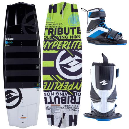 Hyperlite 142 Tribute Wakeboard Package with 10-14 Focus Boots (Men's) -