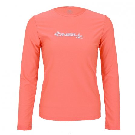 O'Neill Basic Long Sleeve Rash T-Shirt (Women's) - Light Grapefruit