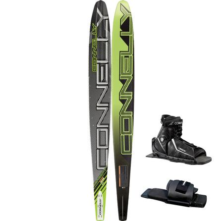 Connelly 68 Concept Double Slalom Waterski with 10-11 Sidewinder Boot and Rear Toe Piece (Men's) -