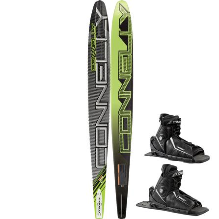 Connelly 66 Concept Double Slalom Waterski with 8-9 Sidewinder Boots (Men's) -