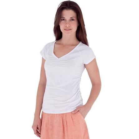 Royal Robbins Ruched Short Sleeve Top (Women's) - White