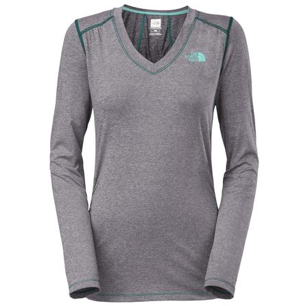 The North Face Long Sleeve RDT V-Neck Shirt (Women's) - Greystone Blue
